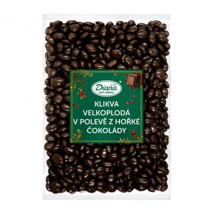 Klikva velkoplodá v polevě z hořké čokolády 1kg