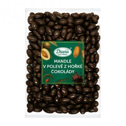 Mandle v polevě z hořké čokolády