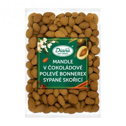 Mandle v čokoládové polevě Bonnerex sypané skořicí