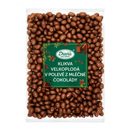 Klikva velkoplodá v polevě z mléčné čokolády 1kg
