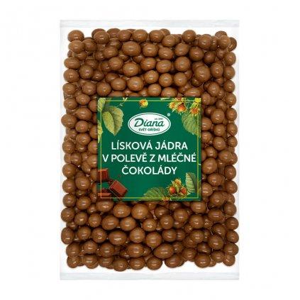 Lísková jádra v polevě z mléčné čokolády 1kg