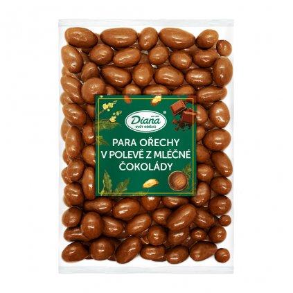 Para ořechy v polevě z mléčné čokolády