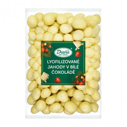 Jahody mrazem sušené v bílé čokoládě