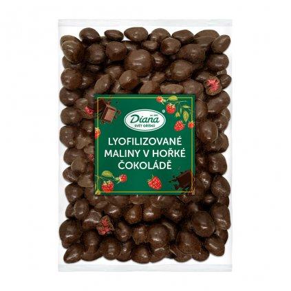 Maliny mrazem sušené v hořké čokoládě 1kg