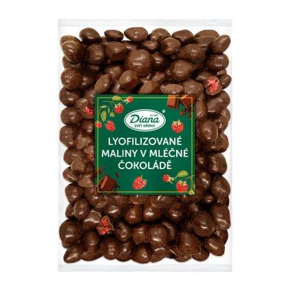 Maliny mrazem sušené v mléčné čokoládě