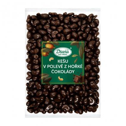 Kešu v polevě z hořké čokolády