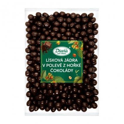 Lísková jádra v polevě z hořké čokolády