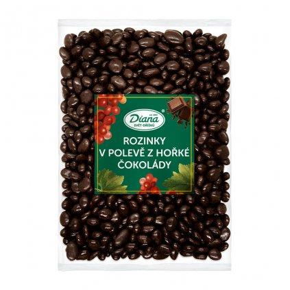 Rozinky v polevě z hořké čokolády