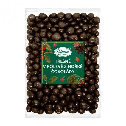 Třešně v polevě z hořké čokolády