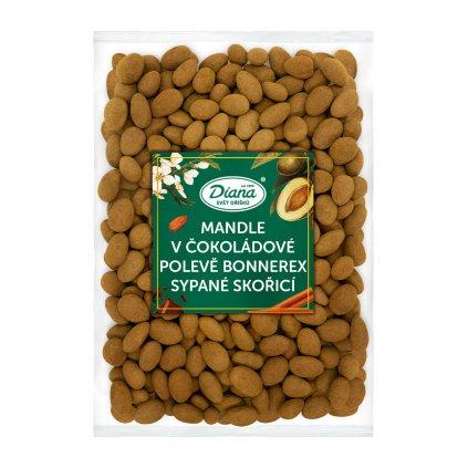 Mandle v čokoládové polevě bonnerex sypané skořicí 1kg