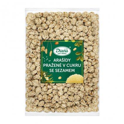 Arašídy pražené v cukru se sezamem 1kg