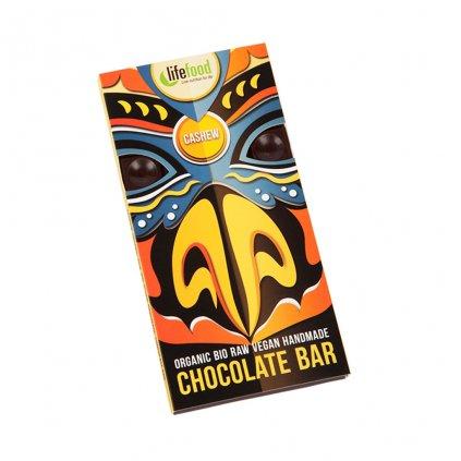 Lifefood Čokoláda velká BIO RAW s kešu ořechy 70g