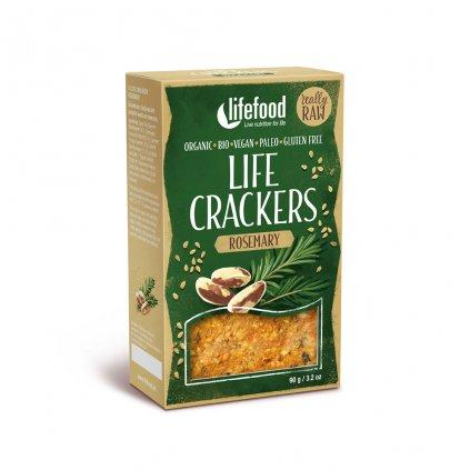 Lifefood LIFE CRACKERS BIO RAW Rozmarýnové 90g