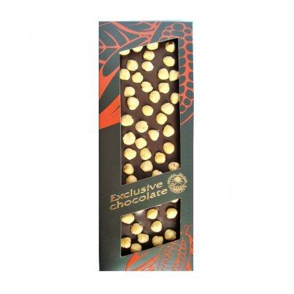 T-severka Tabulková čokoláda s lískovými oříšky hořká 150g