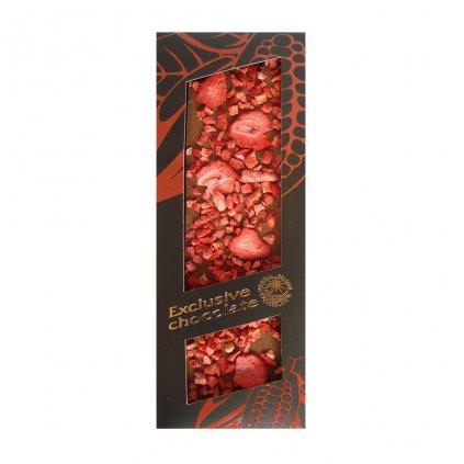 T severka Tabulková čokoláda s jahodami mléčná 120g