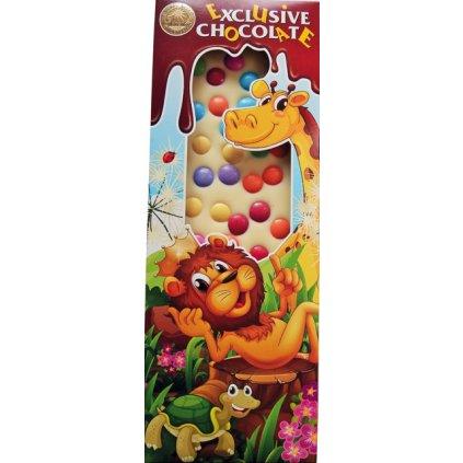 T-severka Tabulková čokoláda s lentilkami bílá čokoláda 140g