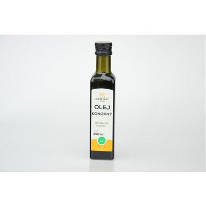 Natural olej konopný za studena lisovaný 250ml