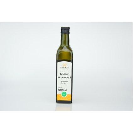 Natural olej sezamový za studena lisovaný 500ml