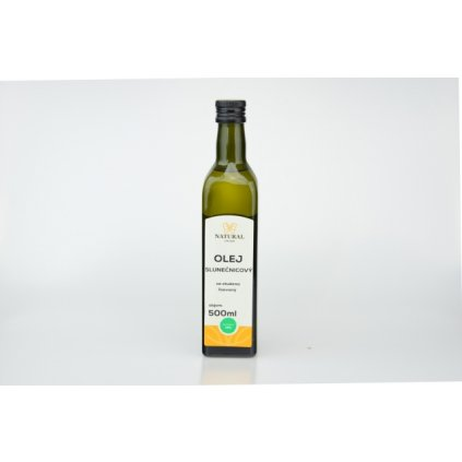 Natural olej slunečnicový za studena lisovaný 500ml