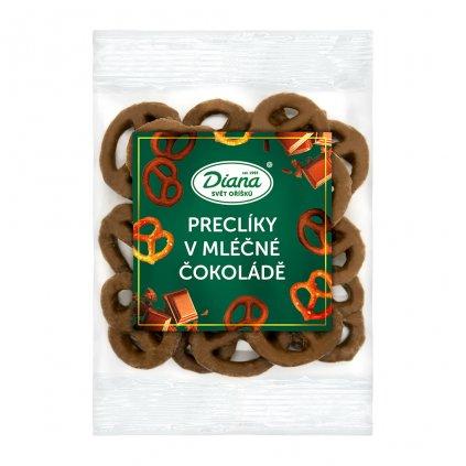 Preclíky v mléčné čokoládě 100g diana company