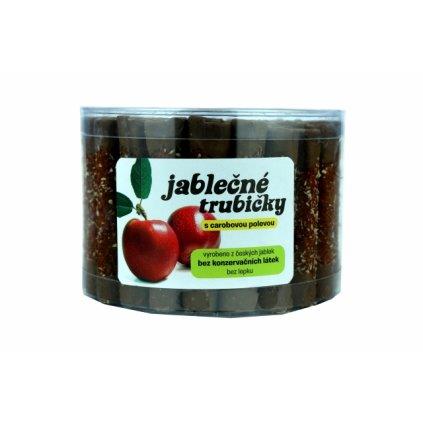 Trutna jablečné trubičky s karobovou polevou dóza 450g