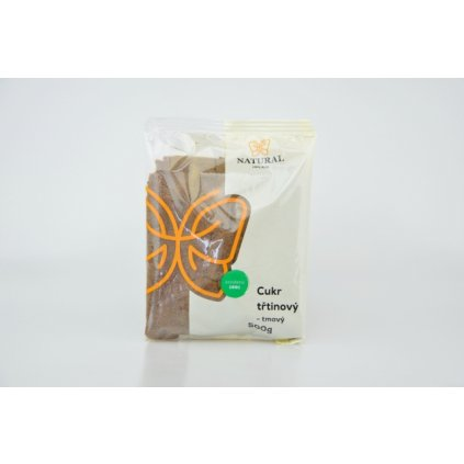 Natural cukr třtinový tmavý jemný 500g