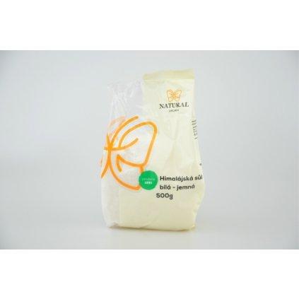 Natural sůl himalájská bílá jemná 500g