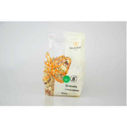 Natural granola s mandlemi bez lepku 200g