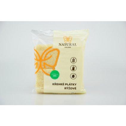 Natural křehké plátky rýžové 75g