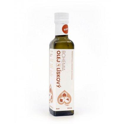 Bohemia olej Olej z lískových ořechů RAW 250ml