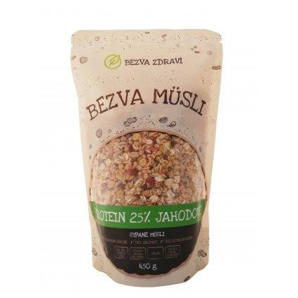 Bezva müsli sypané protein 25 % jahodové 450g