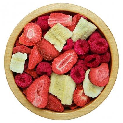 Ovocná směs lyofilizovaná (banán, jahoda, malina) 500g