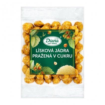 Lísková jádra pražená v cukru 100 g diana company