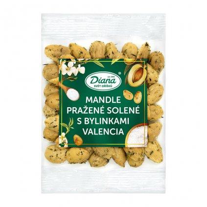 mandle pražené solené s bylinkami valencia 100g diana company