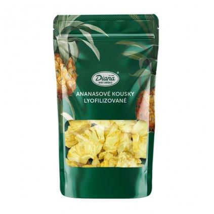Ananasové kousky lyfilizované