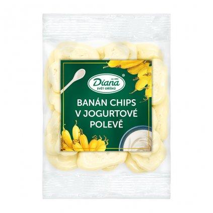 banán chips v jogurtové polevě 100 g diana company