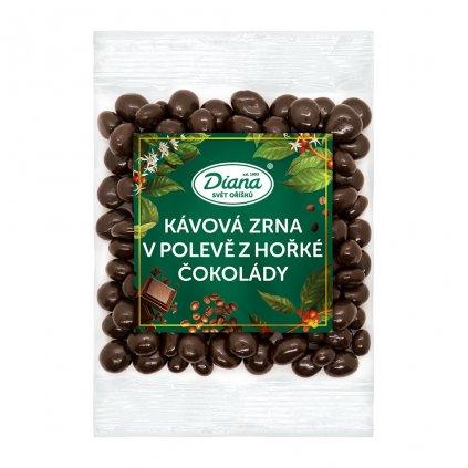 Kávová zrna v polevě z hořké čokolády 100g