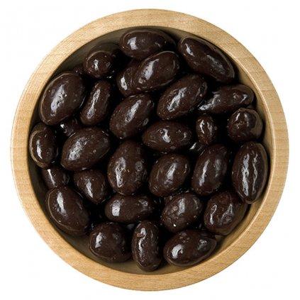 mandle v polevě z hořké čokolády 100g diana company