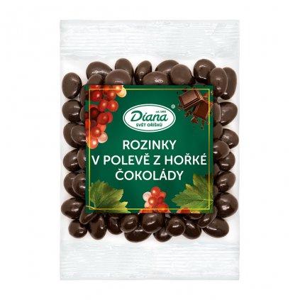 Rozinky v polevě z hořké čokolády 100g