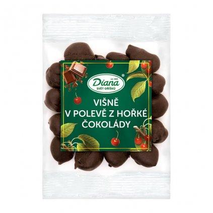 Višně v polevě z hořké čokolády 100g