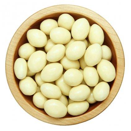 Mandle v polevě z bílé čokolády 100g