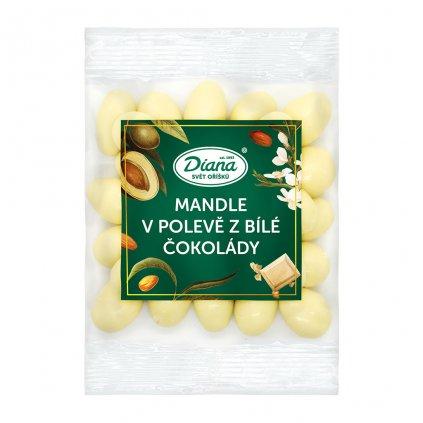 mandle v polevě z bílé čokoládě