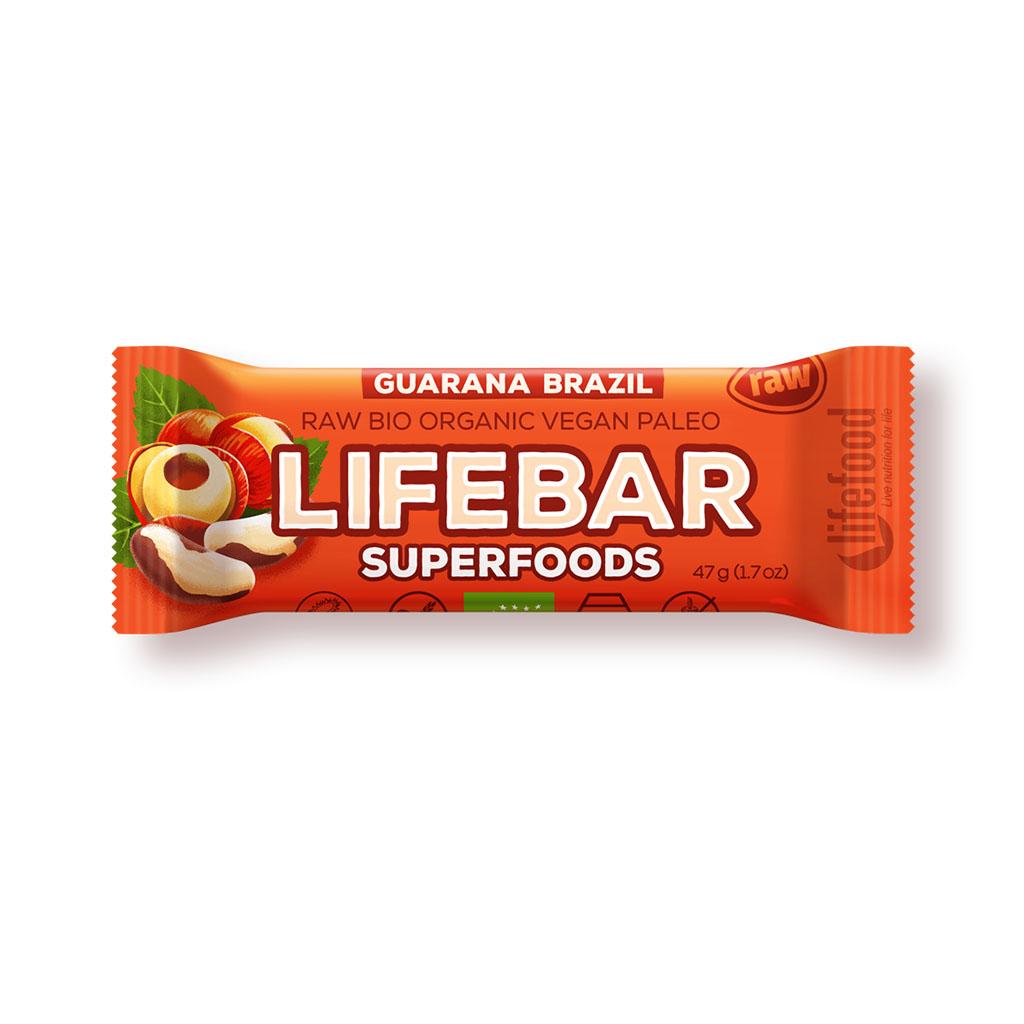 Lifefood LIFEBAR PLUS BIO RAW s guaranou 47g