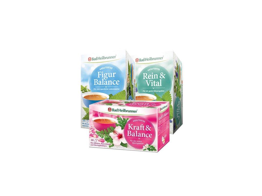 Bylinné čaje 3 druhy, 20x2gr