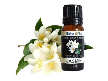 Jasminovy esencialny olej DiatomPlus 10ml and flower