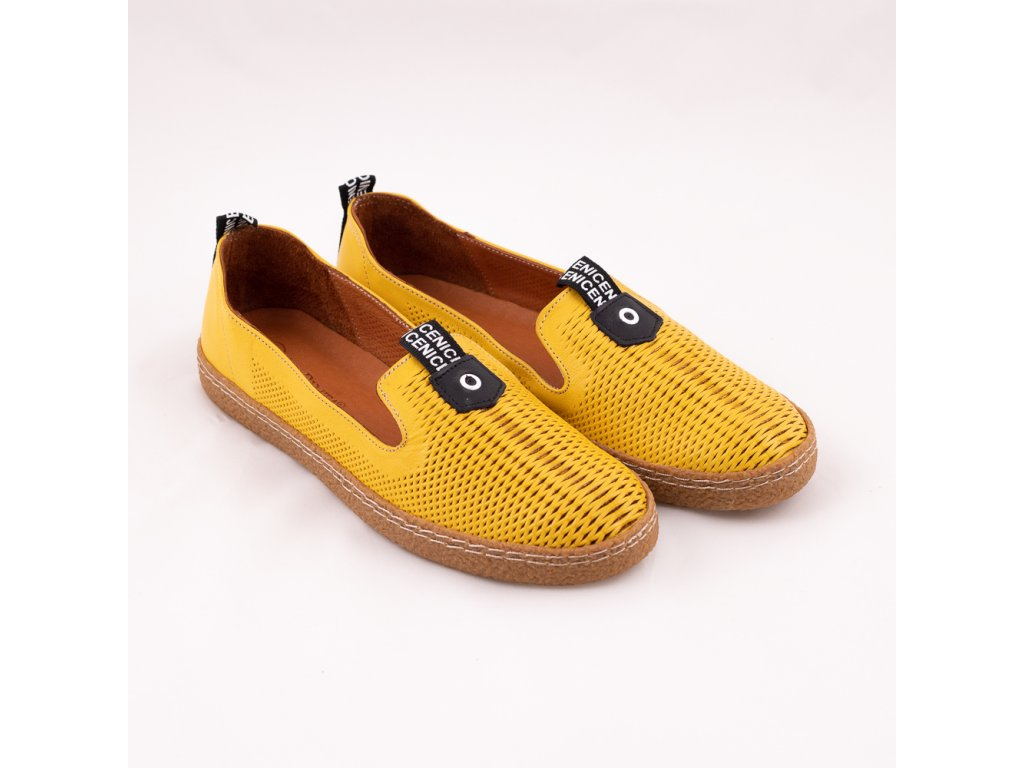 Balerína dámská žlutá