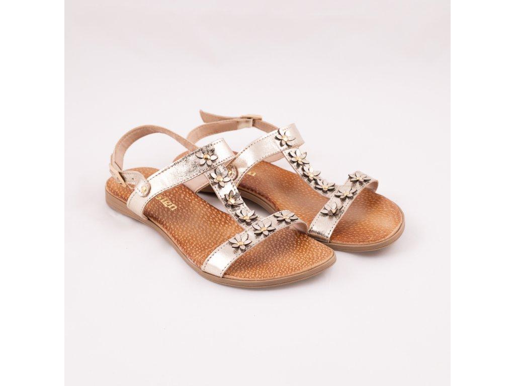 Sandály letní kytka