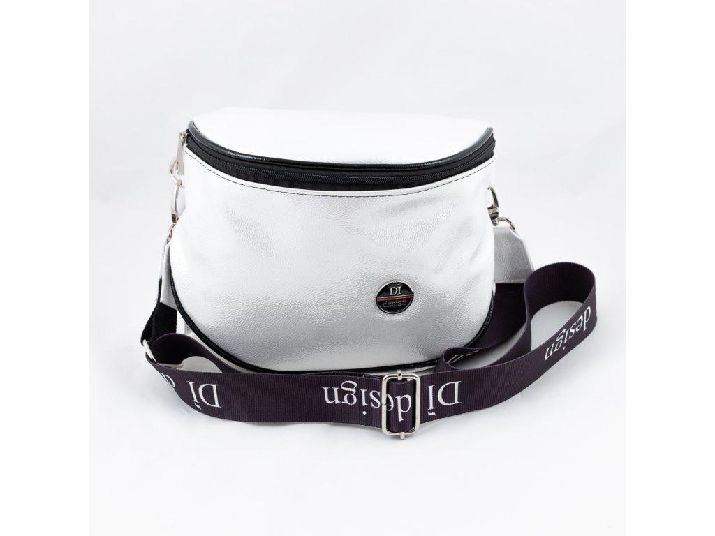 Dámská kabelka bílo-stříbrná 226