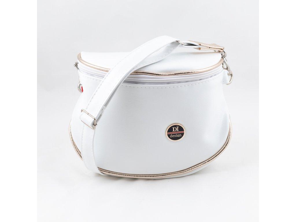 Dámská kabelka bílo-zlatá 226