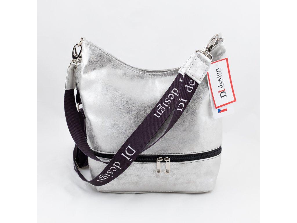 Dámská kabelka stříbrná 127N